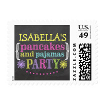 Pancakes and Pajamas Party Custom Stamp