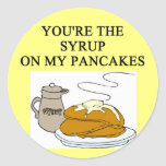 PANCAKES and syrup lovers Classic Round Sticker