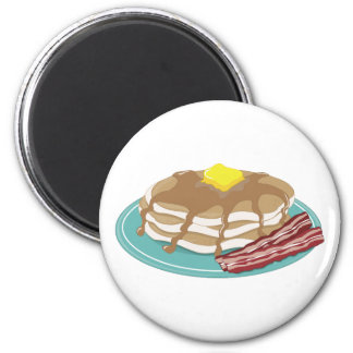 Pancakes Bacon 2 Inch Round Magnet