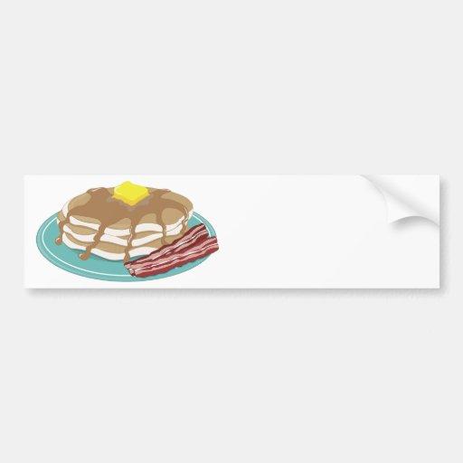 Pancakes Bacon Car Bumper Sticker