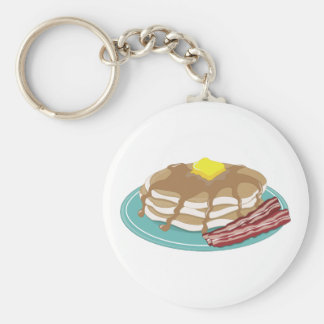 Pancakes Bacon Keychain
