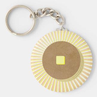 pancakes basic round button keychain