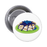 Pancakes Blueberry 2 Inch Round Button