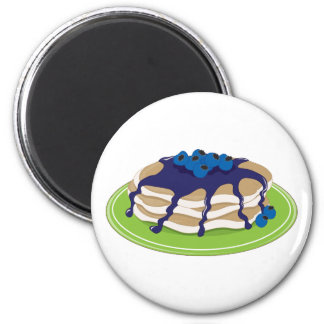 Pancakes Blueberry 2 Inch Round Magnet