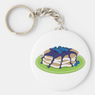 Pancakes Blueberry Keychain