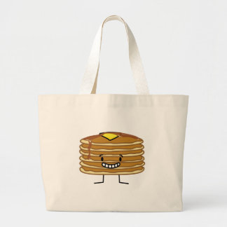 Pancakes Butter and Syrup Pancake Stack Large Tote Bag