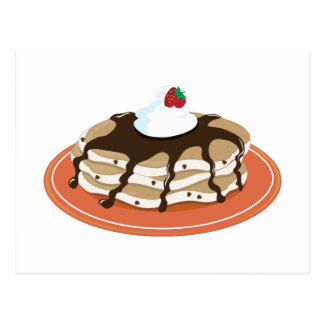 Pancakes Chocolate Postcard