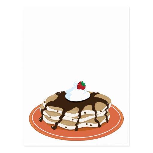 Pancakes Chocolate Postcard