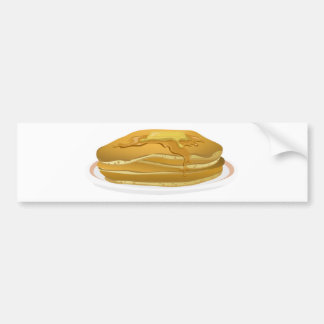 Pancakes Drawing Bumper Sticker