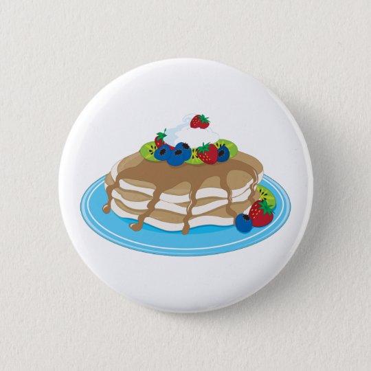 Pancakes Fruit Pinback Button