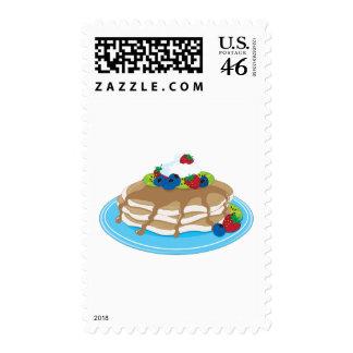 Pancakes Fruit Postage Stamps