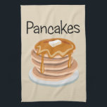"""Pancakes Hand Towel<br><div class=""""desc"""">Yummy,  yummy! Anyone for a tall stack of Pancakes with butter and syrup? Don&#39;t forget to check out our other products at our Zazzle store,  Latin_Expressions.</div>"""