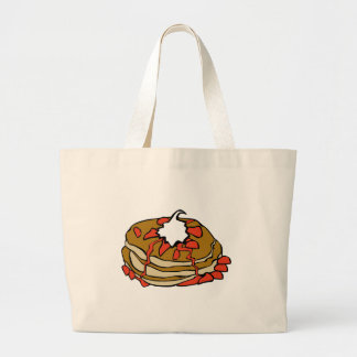 Pancakes jam and cream canvas bag