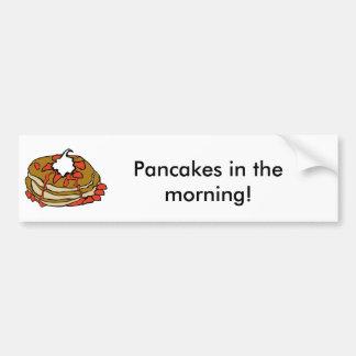 Pancakes jam and cream car bumper sticker