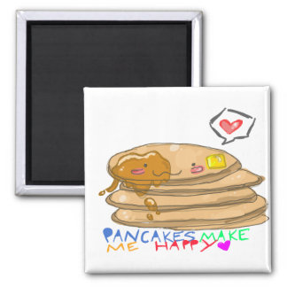 pancakes make me happy magnet