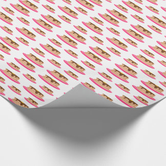 Pancakes on Pink Plates Pattern Wrapping Paper