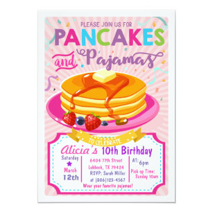 bac5e4f479eb Pajama Party Invitations
