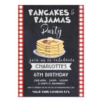 Pancakes Pajamas Birthday Party Invitation