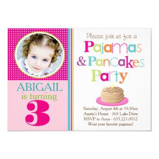 Pancakes & Pajamas Party Invitation (Photo)