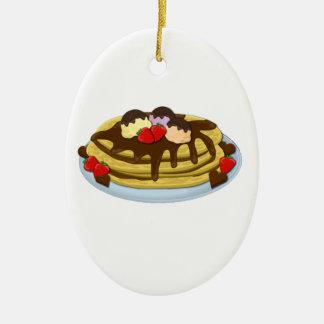 Pancakes - Shrove tuesday Ceramic Ornament