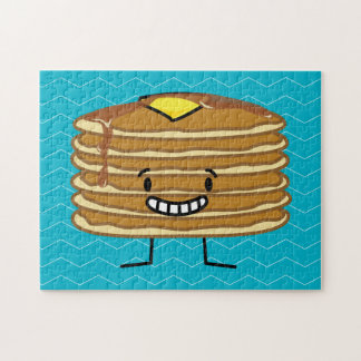 Pancakes stack butter syrup fluffy breakfast jigsaw puzzle