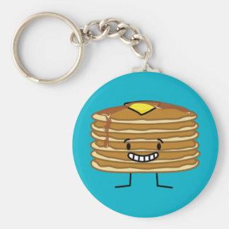 Pancakes stack butter syrup fluffy breakfast keychain