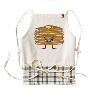 Pancakes stack butter syrup fluffy breakfast zazzle HEART apron
