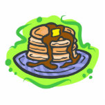 """Pancakes Statuette<br><div class=""""desc"""">Pancakes are a delicious and filling breakfast with butter and syrup how yummy!  If you love to eat then you will love this great foodie design.  show everyone what you favorite food is with this delicious creation.</div>"""