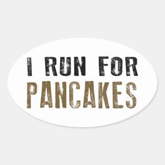 Pancakes Oval Sticker