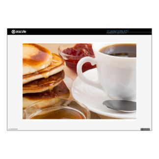 "Pancakes with honey, strawberry jam 15"" laptop skin"