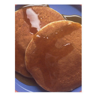Pancakes with Maple Syrup Postcard