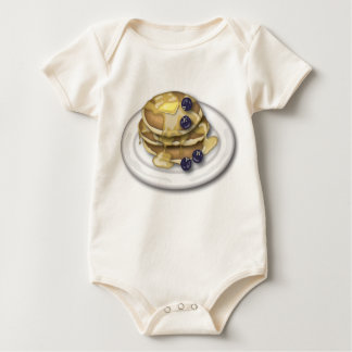 Pancakes With Syrup And Blueberries Baby Bodysuit