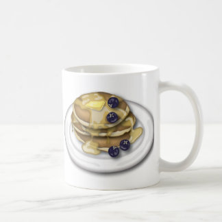 Pancakes With Syrup And Blueberries Classic White Coffee Mug