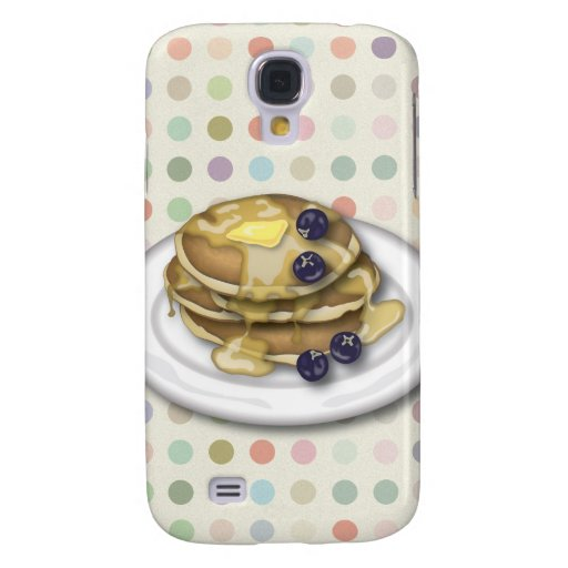 Pancakes With Syrup And Blueberries Galaxy S4 Case
