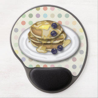 Pancakes With Syrup And Blueberries Gel Mouse Pad