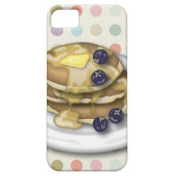 Pancakes With Syrup And Blueberries iPhone 5 Cover