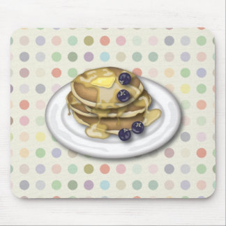 Pancakes With Syrup And Blueberries Mouse Pad