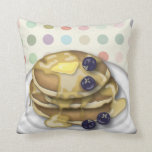 Pancakes With Syrup And Blueberries Pillow