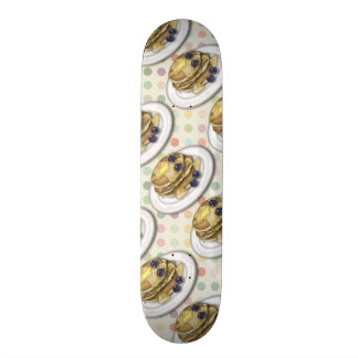 Pancakes With Syrup And Blueberries Skateboard Deck