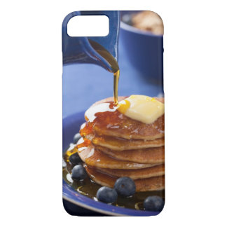 Pancakes with syrup and blueberry iPhone 7 case