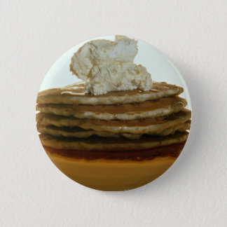 Pancakes with whipped butter pinback button