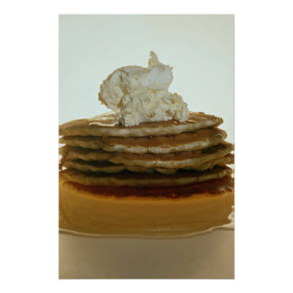 Pancakes with whipped butter poster