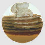 Pancakes with whipped butter sticker