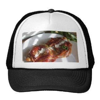 Pancetta y pollo envuelto albahaca gorras de camionero