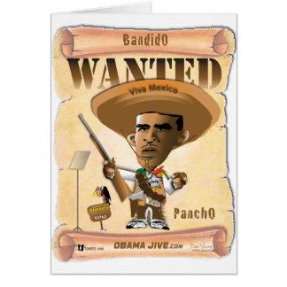 Panch Obama Tarjeta De Felicitación