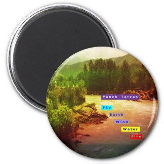 Panch Tatva: Sky Earth Wind Water Fire Fridge Magnet