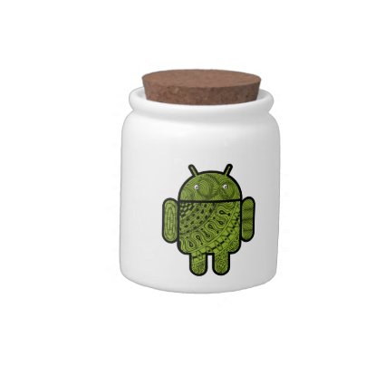 Pancho Doodle Character for Android™ robot Candy Jar