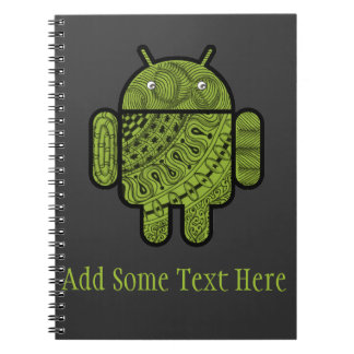 Pancho Doodle Character for Android™ robot Notebooks