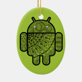 Pancho Doodle Character for Android™ robot Ornaments