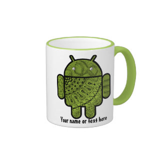 Pancho Doodle Character for Android™ robot Ringer Mug
